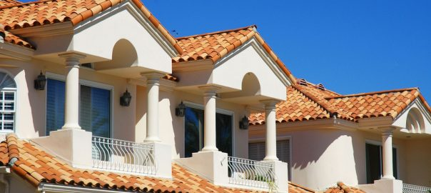 Clay Tile Roofing Condos