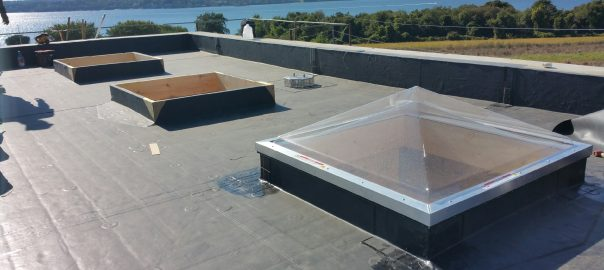 Flat Roofing with Skylights