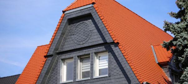 Slate Roof Red Tiles