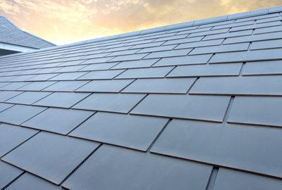 Slate Roofing job on home